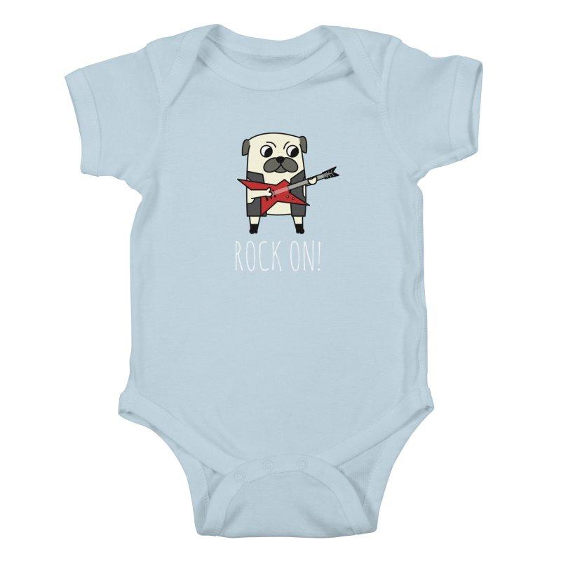 Rockstar Pug Kids Baby Bodysuit by cartoonbeing's Artist Shop