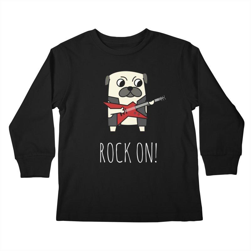 Rockstar Pug Kids Longsleeve T-Shirt by cartoonbeing's Artist Shop