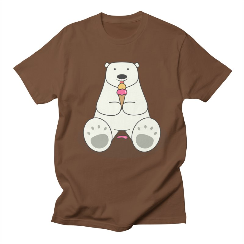 Ice Cream Lover Polar Bear Men's Regular T-Shirt by cartoonbeing's Artist Shop