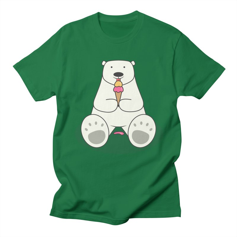 Ice Cream Lover Polar Bear Men's Regular T-Shirt by cartoonbeing's Artist Shop