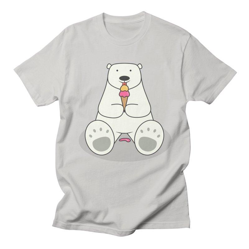 Ice Cream Lover Polar Bear Men's T-Shirt by cartoonbeing's Artist Shop