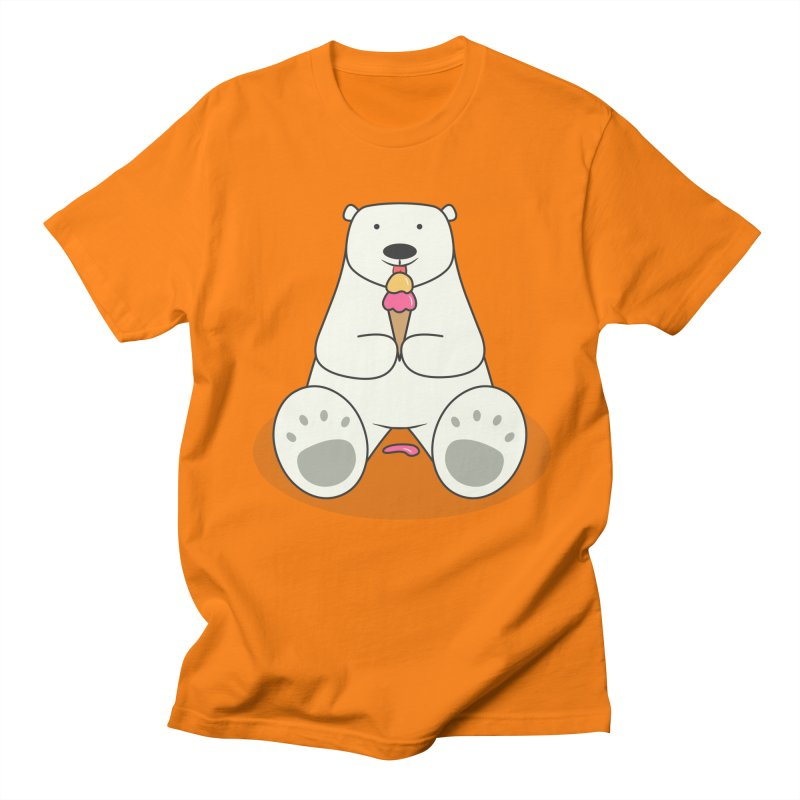 Ice Cream Lover Polar Bear Men's T-Shirt by cartoonbeing's Artist Shop