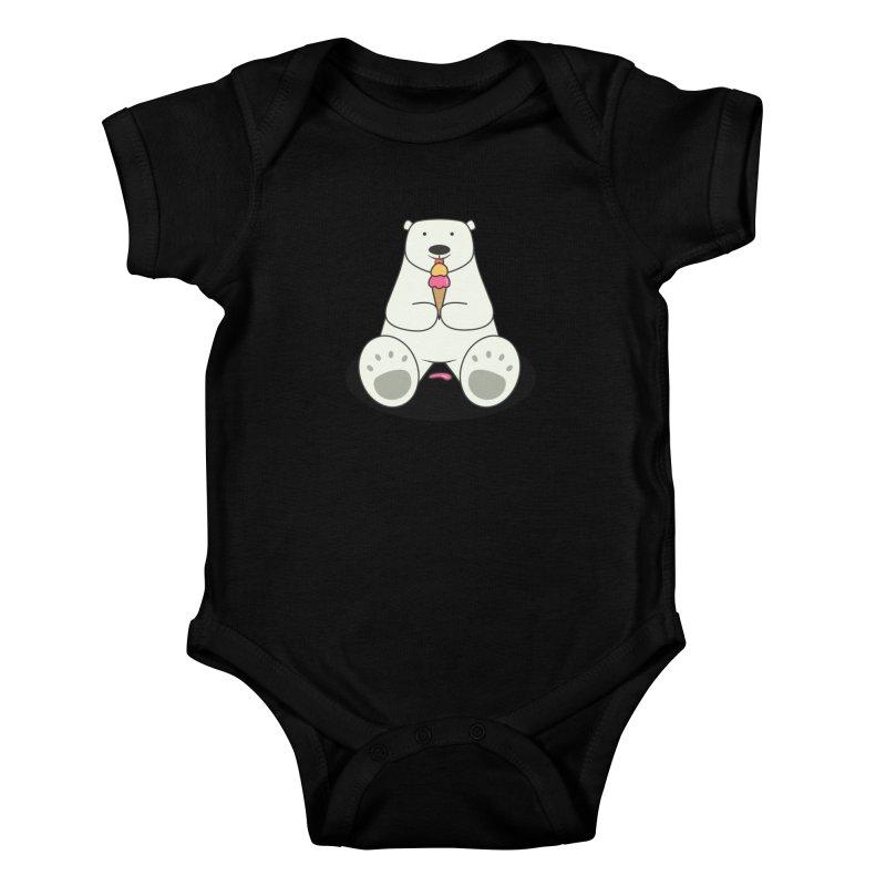 Ice Cream Lover Polar Bear Kids Baby Bodysuit by cartoonbeing's Artist Shop