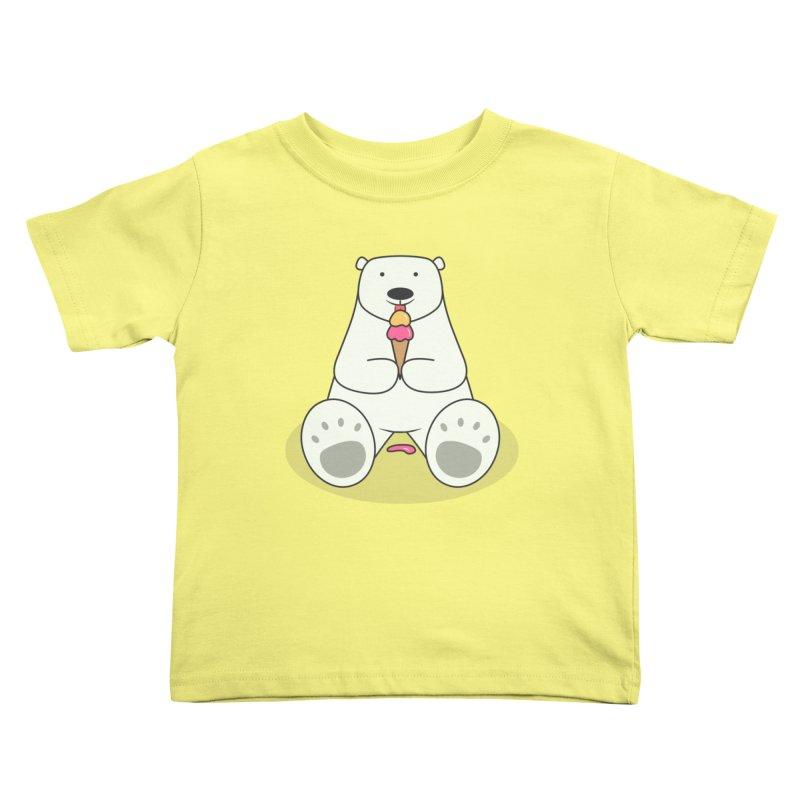 Ice Cream Lover Polar Bear Kids Toddler T-Shirt by cartoonbeing's Artist Shop