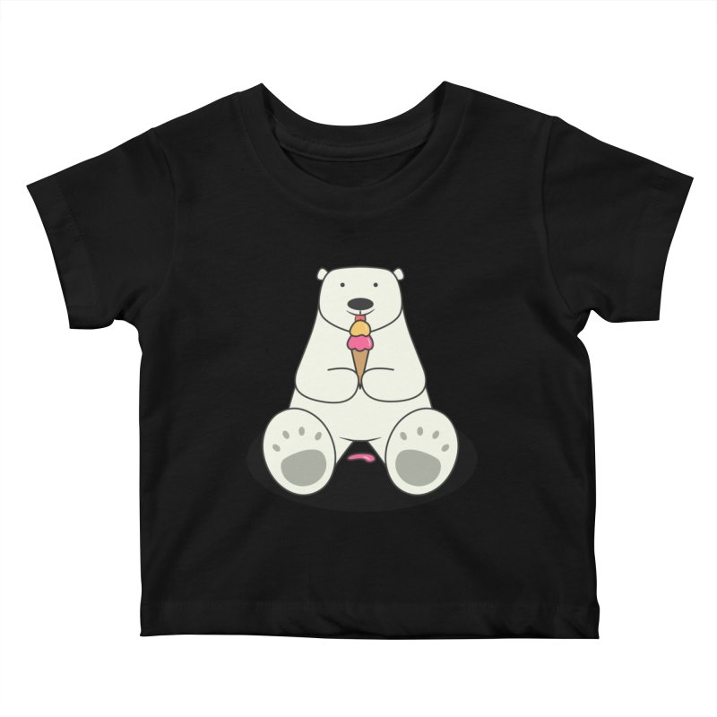 Ice Cream Lover Polar Bear Kids Baby T-Shirt by cartoonbeing's Artist Shop