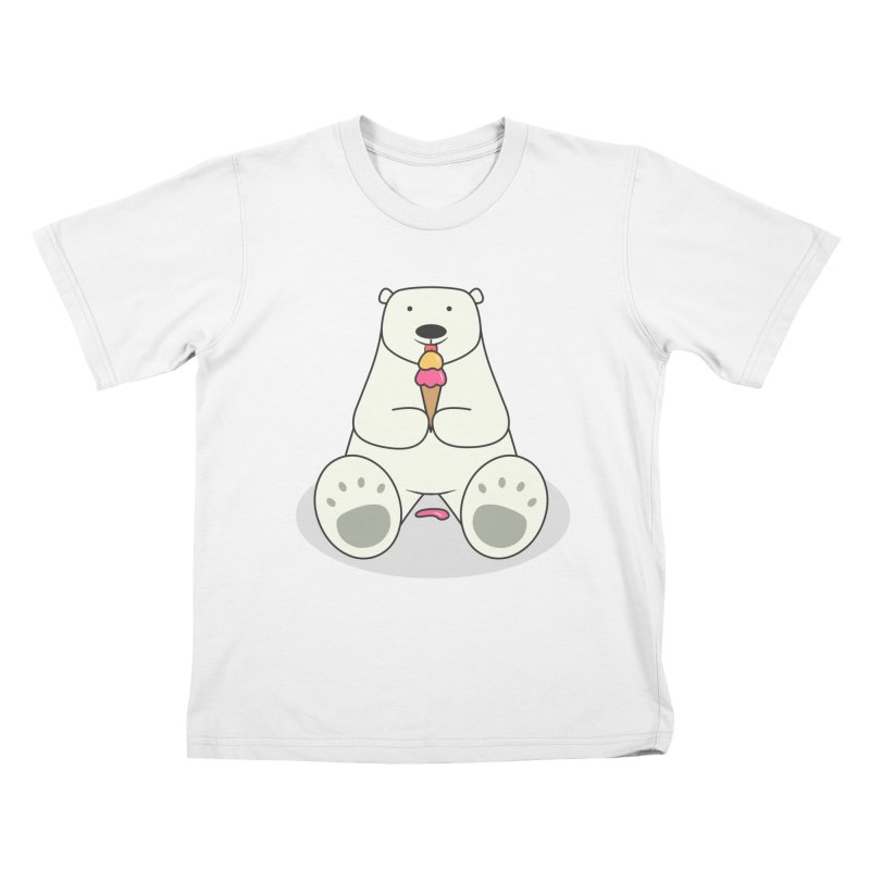 Ice Cream Lover Polar Bear Kids T-Shirt by cartoonbeing's Artist Shop
