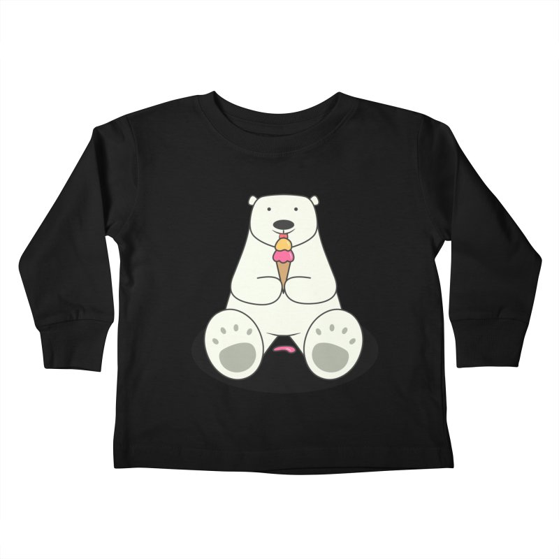 Ice Cream Lover Polar Bear Kids Toddler Longsleeve T-Shirt by cartoonbeing's Artist Shop