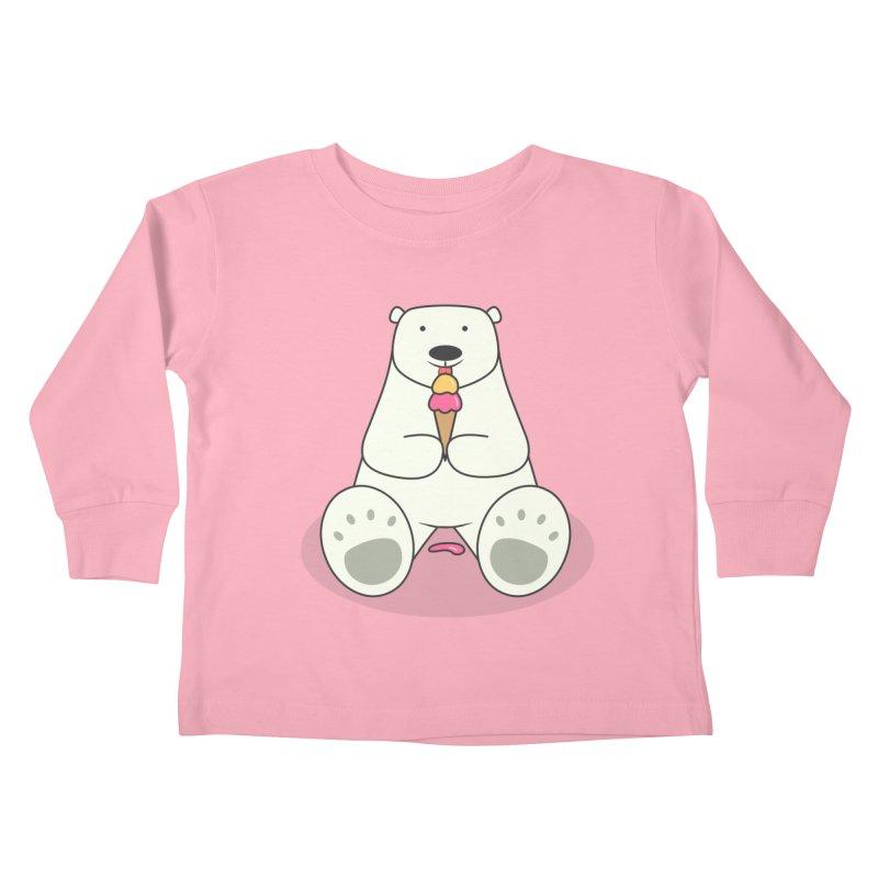 Ice Cream Lover Polar Bear Kids Toddler Longsleeve T-Shirt by cartoonbeing's Artist Shop