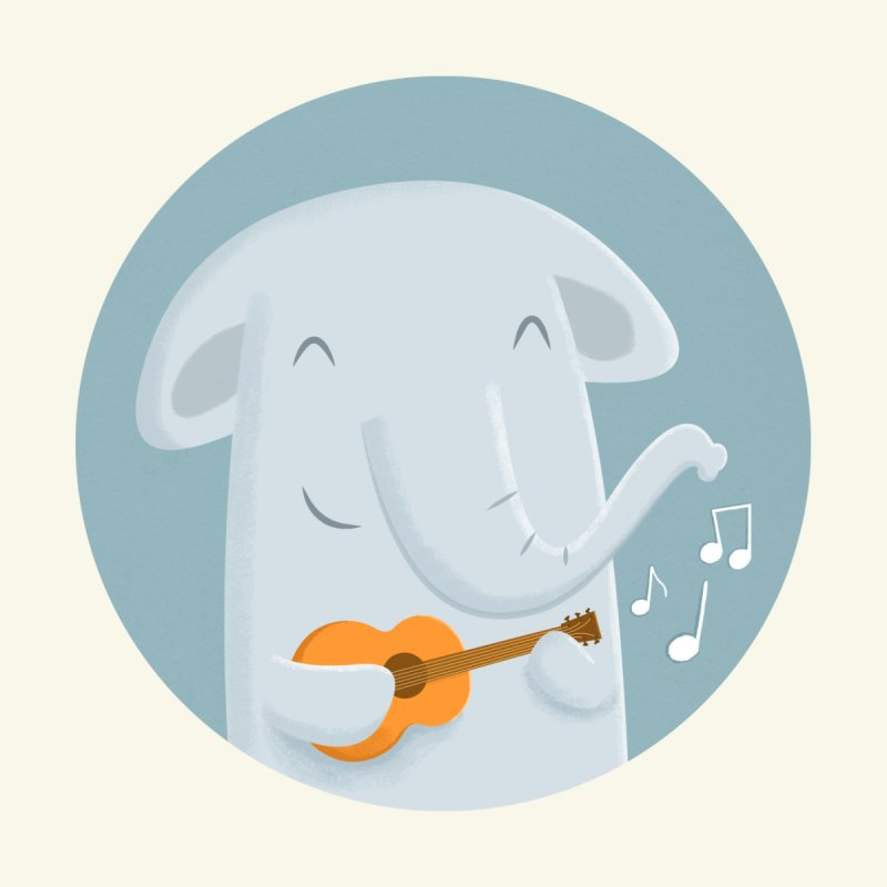 Nice Song, Elephant Kids Toddler T-Shirt by cartoonbeing's Artist Shop