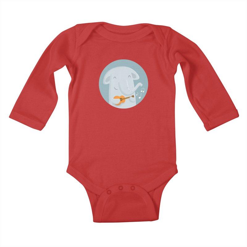 Nice Song, Elephant Kids Baby Longsleeve Bodysuit by cartoonbeing's Artist Shop