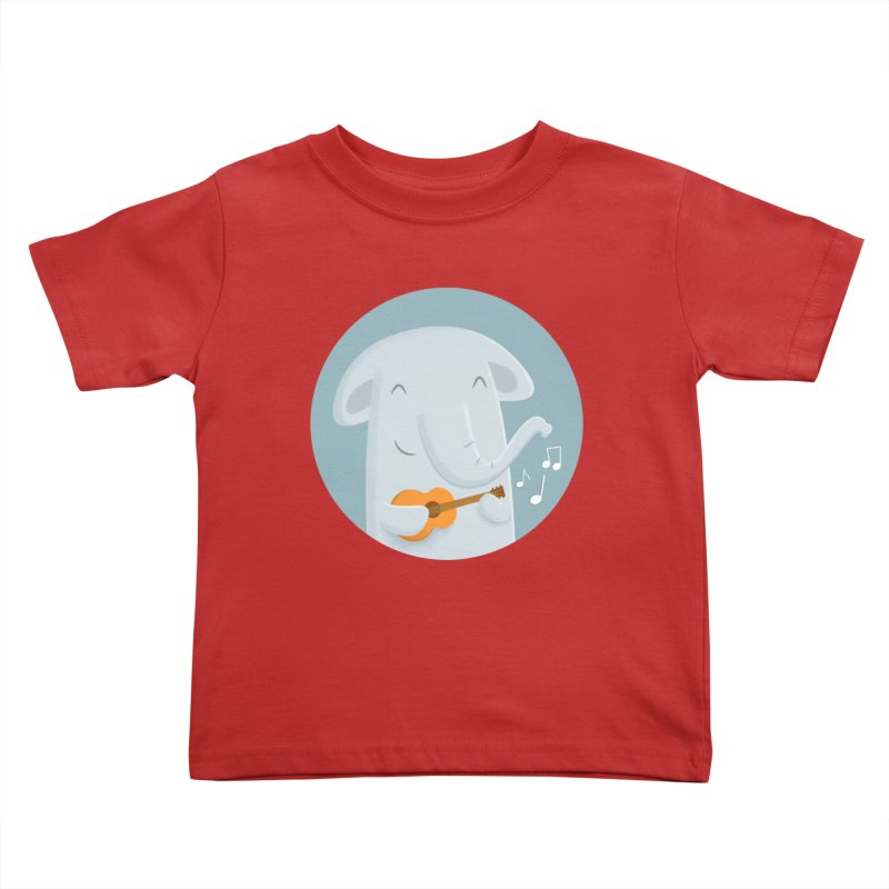 Nice Song, Elephant Kids Toddler T-Shirt by cartoonbeing's Artist Shop