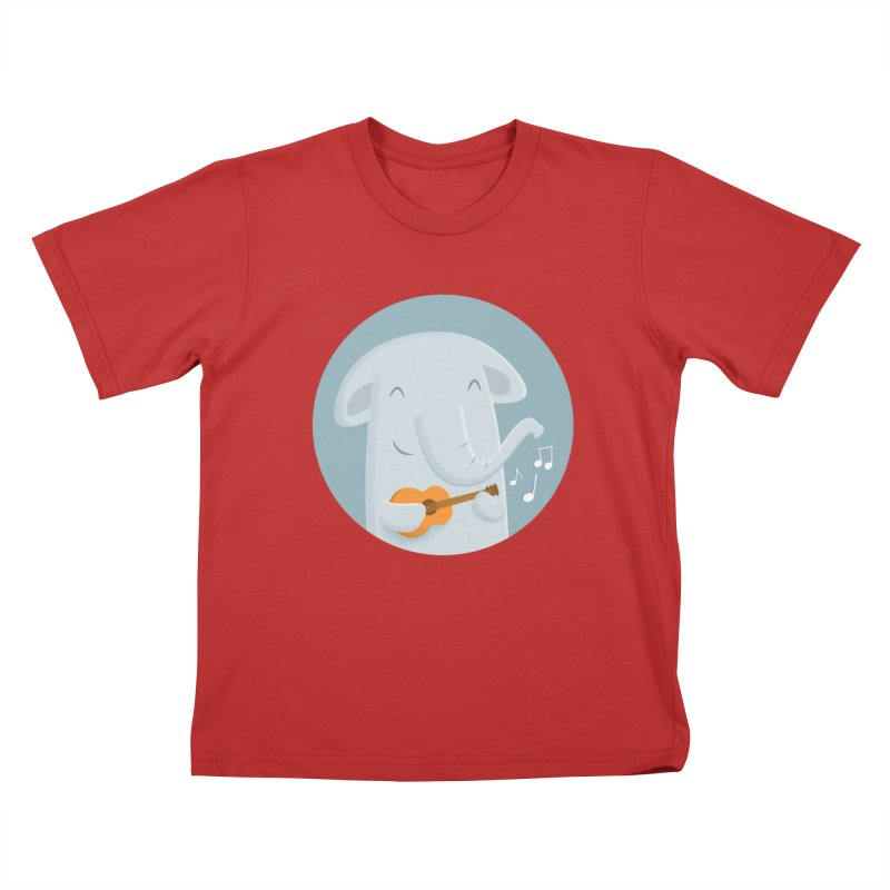 Nice Song, Elephant Kids T-Shirt by cartoonbeing's Artist Shop