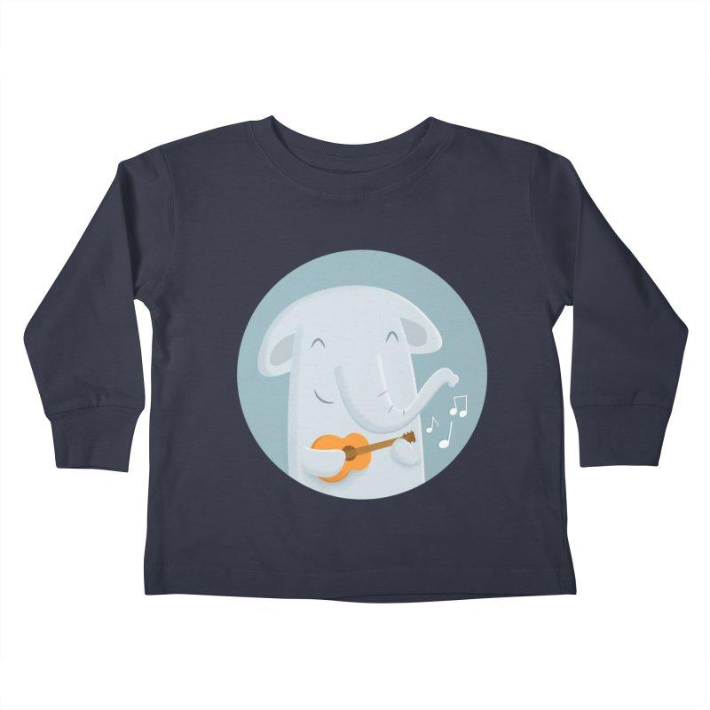 Nice Song, Elephant Kids Toddler Longsleeve T-Shirt by cartoonbeing's Artist Shop