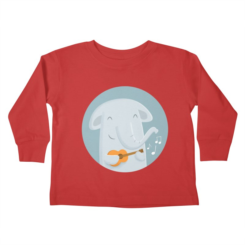 Nice Song, Elephant Kids Toddler Longsleeve T-Shirt by cartoonbeing's Artist Shop