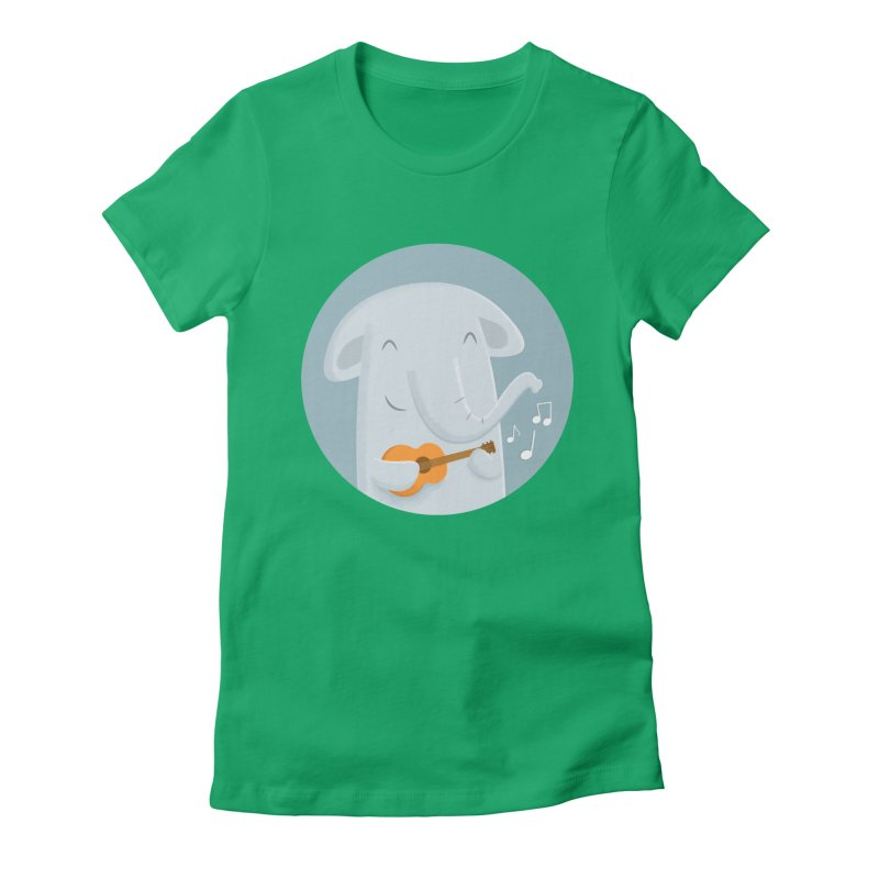 Nice Song, Elephant Women's Fitted T-Shirt by cartoonbeing's Artist Shop