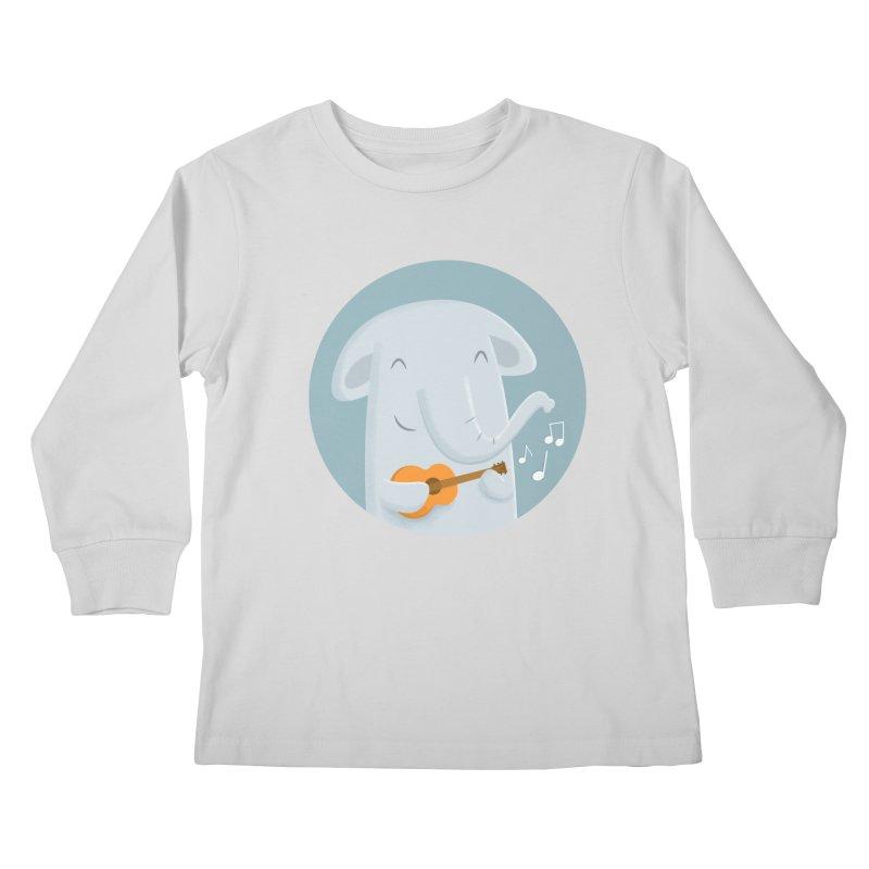 Nice Song, Elephant Kids Longsleeve T-Shirt by cartoonbeing's Artist Shop