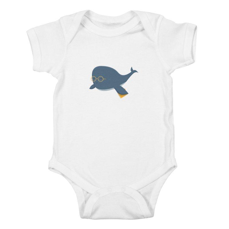 Ms. Whale Kids Baby Bodysuit by cartoonbeing's Artist Shop