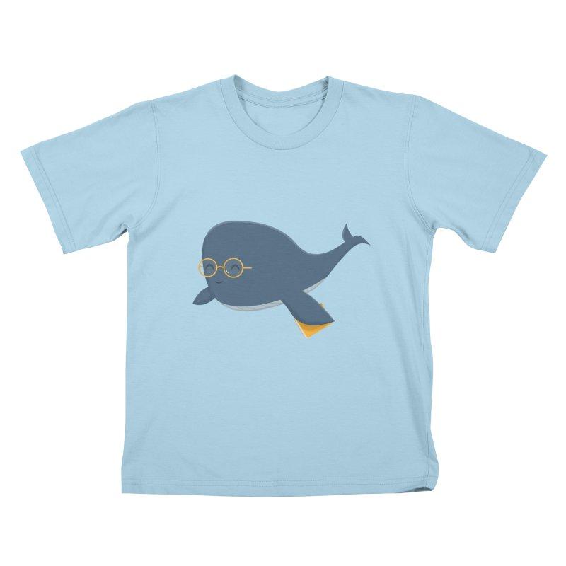 Ms. Whale Kids T-Shirt by cartoonbeing's Artist Shop