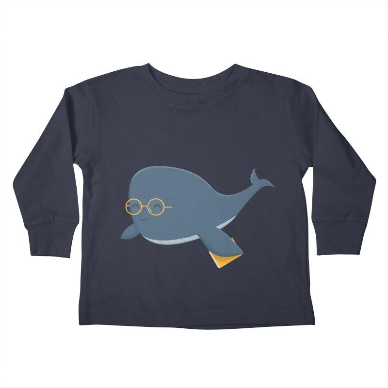 Ms. Whale Kids Toddler Longsleeve T-Shirt by cartoonbeing's Artist Shop