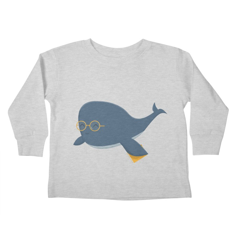 Ms. Whale Kids Toddler Longsleeve T-Shirt by cartoonbeing's Artist Shop