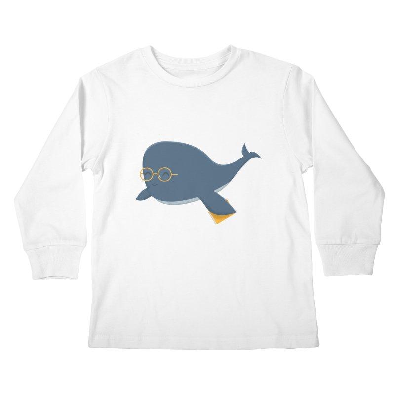 Ms. Whale Kids Longsleeve T-Shirt by cartoonbeing's Artist Shop
