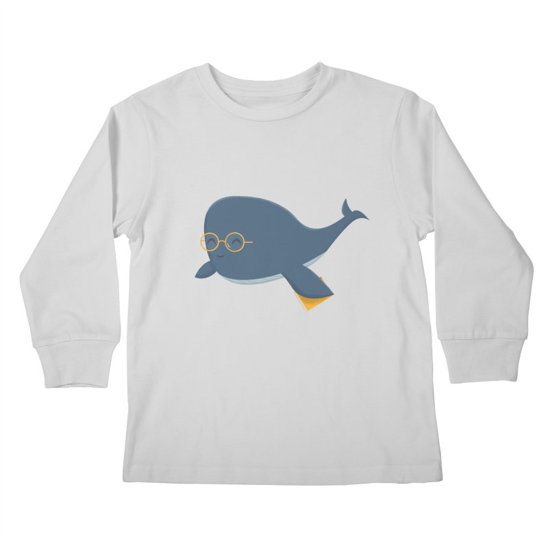Ms. Whale Kids Longsleeve T-Shirt by cartoonbeing's Artist Shop