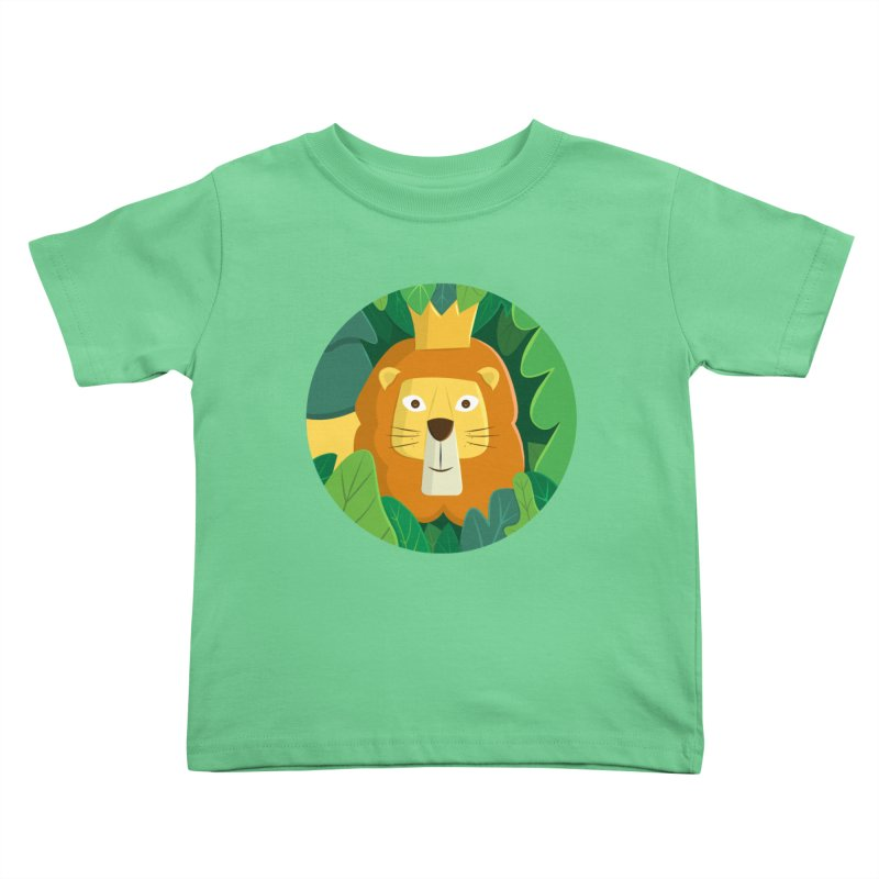 King of the Jungle Kids Toddler T-Shirt by cartoonbeing's Artist Shop