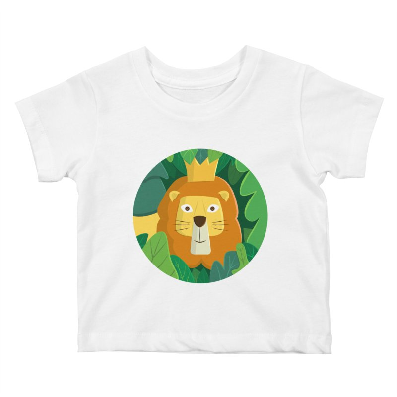 King of the Jungle Kids Baby T-Shirt by cartoonbeing's Artist Shop