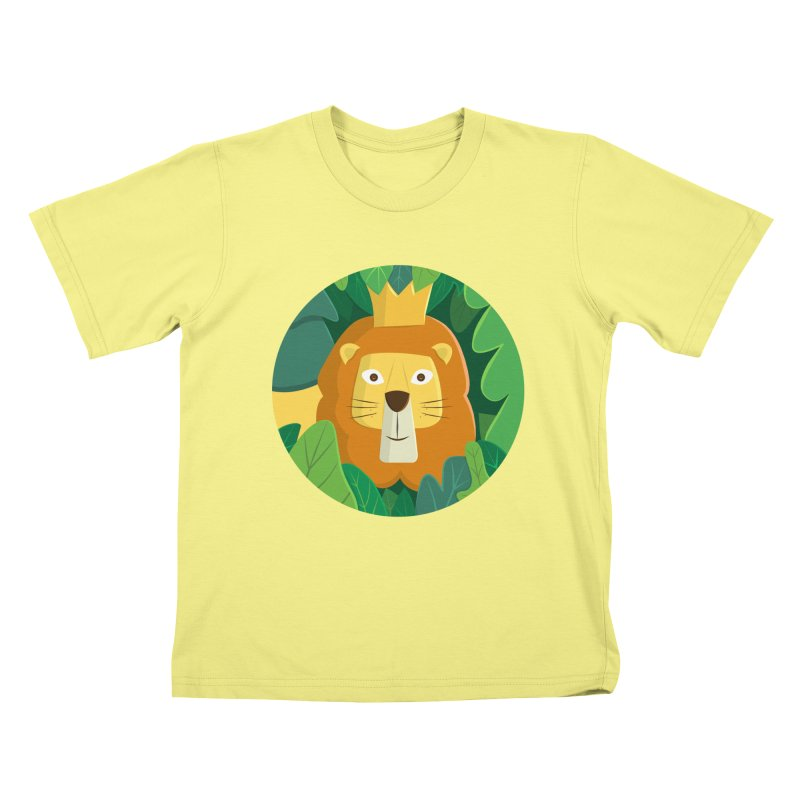 King of the Jungle in Kids T-Shirt Canary by cartoonbeing's Artist Shop