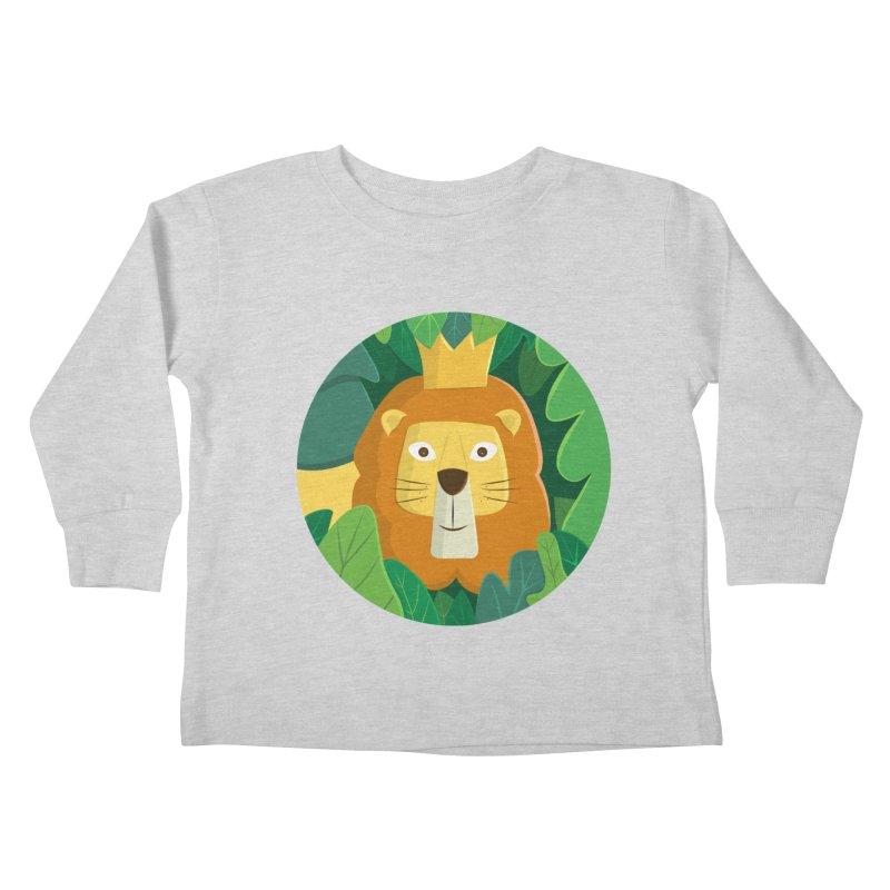 King of the Jungle Kids Toddler Longsleeve T-Shirt by cartoonbeing's Artist Shop