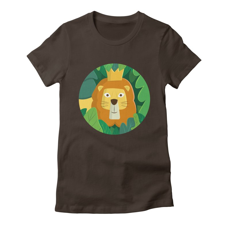 King of the Jungle Women's Fitted T-Shirt by cartoonbeing's Artist Shop