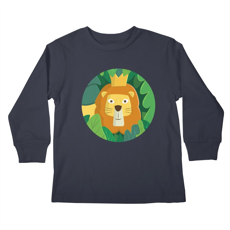 King of the Jungle Kids Longsleeve T-Shirt by cartoonbeing's Artist Shop