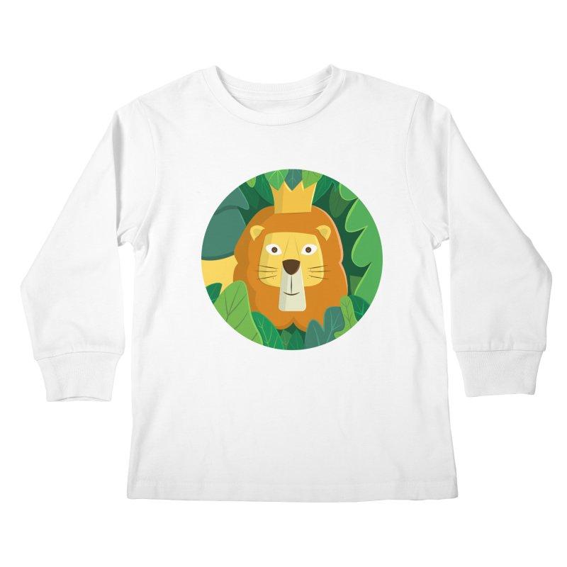 King of the Jungle Kids Longsleeve T-Shirt by cartoonbeing's Artist Shop