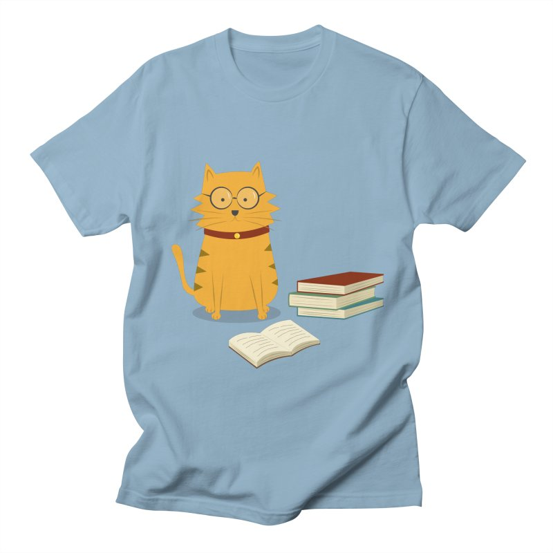 Nerdy Cat Men's Regular T-Shirt by cartoonbeing's Artist Shop