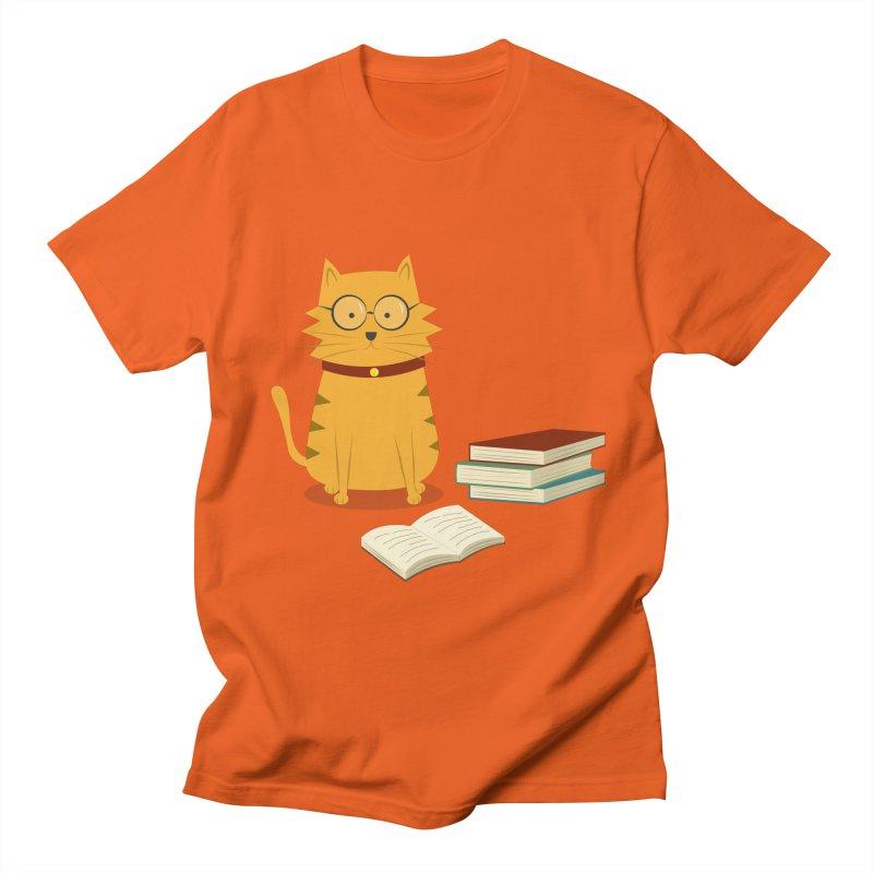 Nerdy Cat Men's T-Shirt by cartoonbeing's Artist Shop