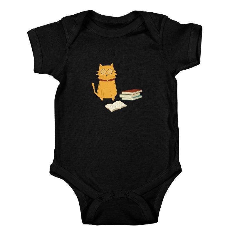 Nerdy Cat Kids Baby Bodysuit by cartoonbeing's Artist Shop
