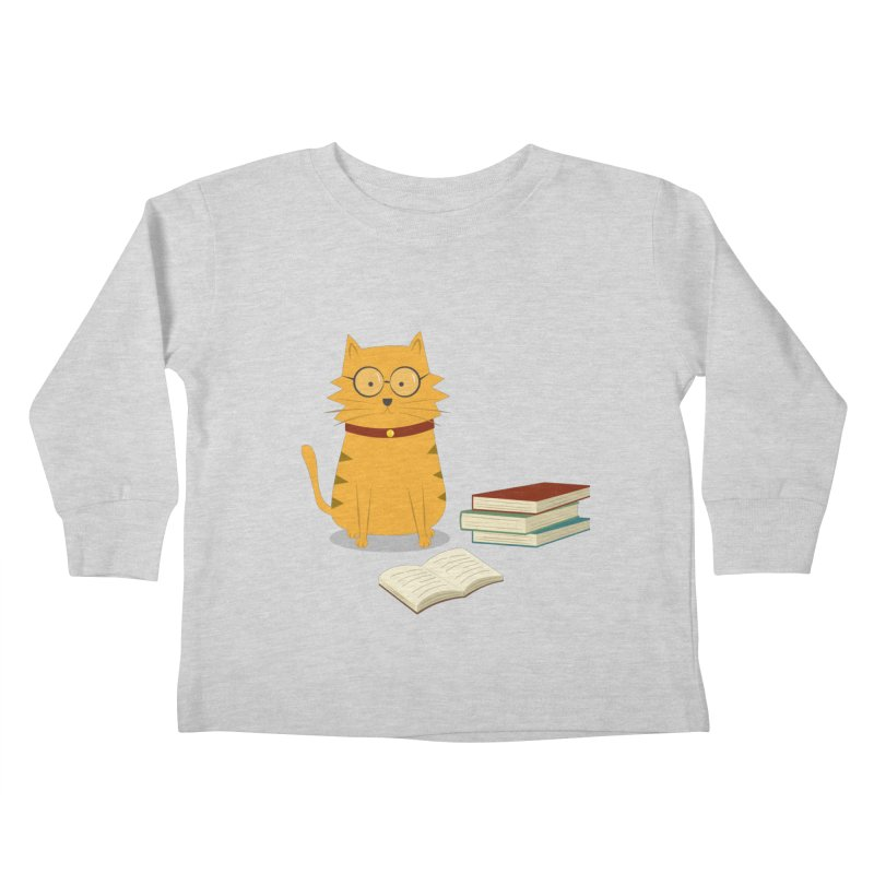 Nerdy Cat Kids Toddler Longsleeve T-Shirt by cartoonbeing's Artist Shop