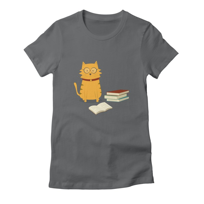 Nerdy Cat Women's T-Shirt by cartoonbeing's Artist Shop