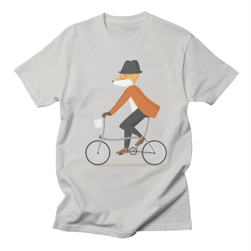 Mr. Fox is on His Way in Men's Regular T-Shirt Stone by cartoonbeing's Artist Shop