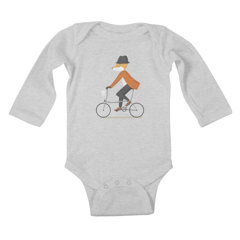 Mr. Fox is on His Way Kids Baby Longsleeve Bodysuit by cartoonbeing's Artist Shop