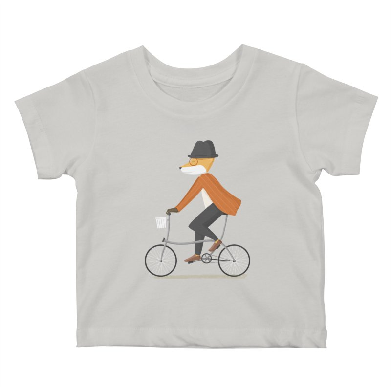 Mr. Fox is on His Way Kids Baby T-Shirt by cartoonbeing's Artist Shop
