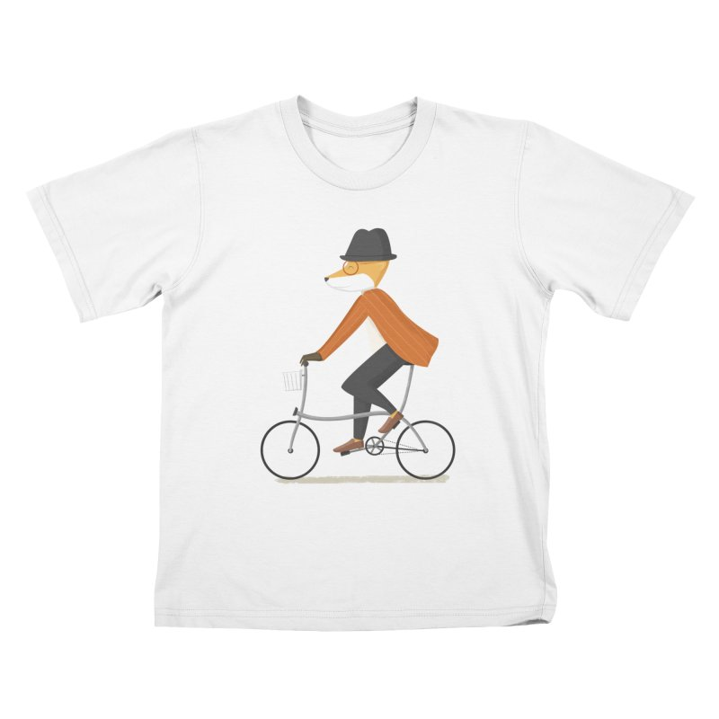 Mr. Fox is on His Way Kids T-Shirt by cartoonbeing's Artist Shop