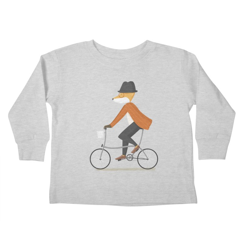 Mr. Fox is on His Way Kids Toddler Longsleeve T-Shirt by cartoonbeing's Artist Shop