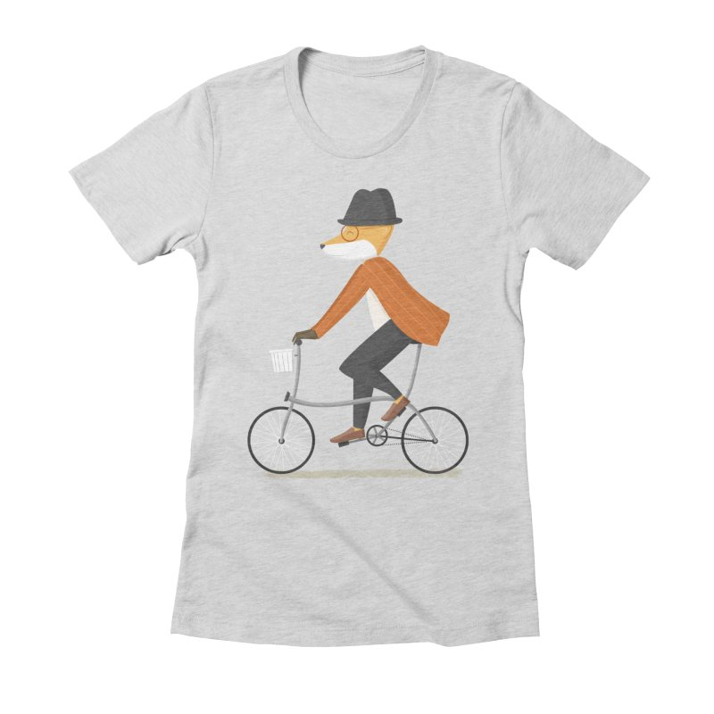 Mr. Fox is on His Way Women's Fitted T-Shirt by cartoonbeing's Artist Shop
