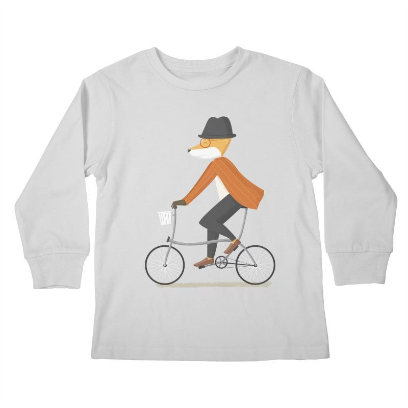 Mr. Fox is on His Way Kids Longsleeve T-Shirt by cartoonbeing's Artist Shop