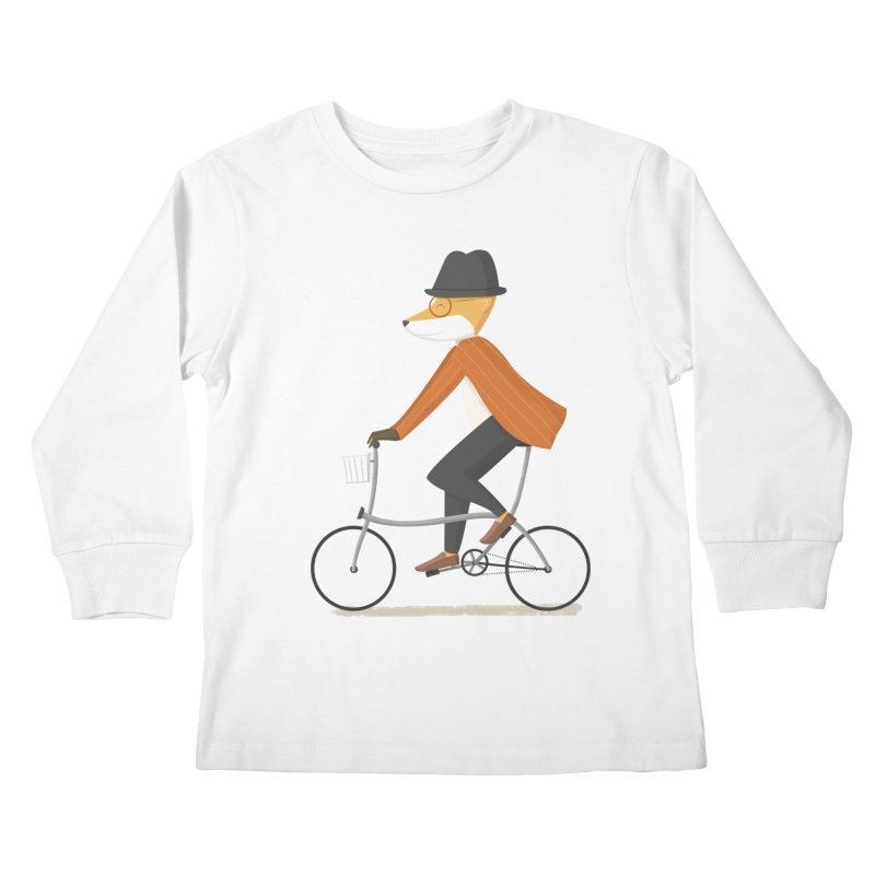 Mr. Fox is on His Way Kids Longsleeve T-Shirt by cartoonbeing's Artist Shop