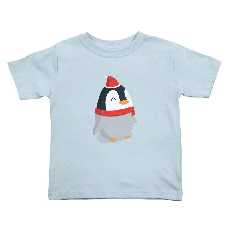 Christmas Penguin Kids Toddler T-Shirt by cartoonbeing's Artist Shop