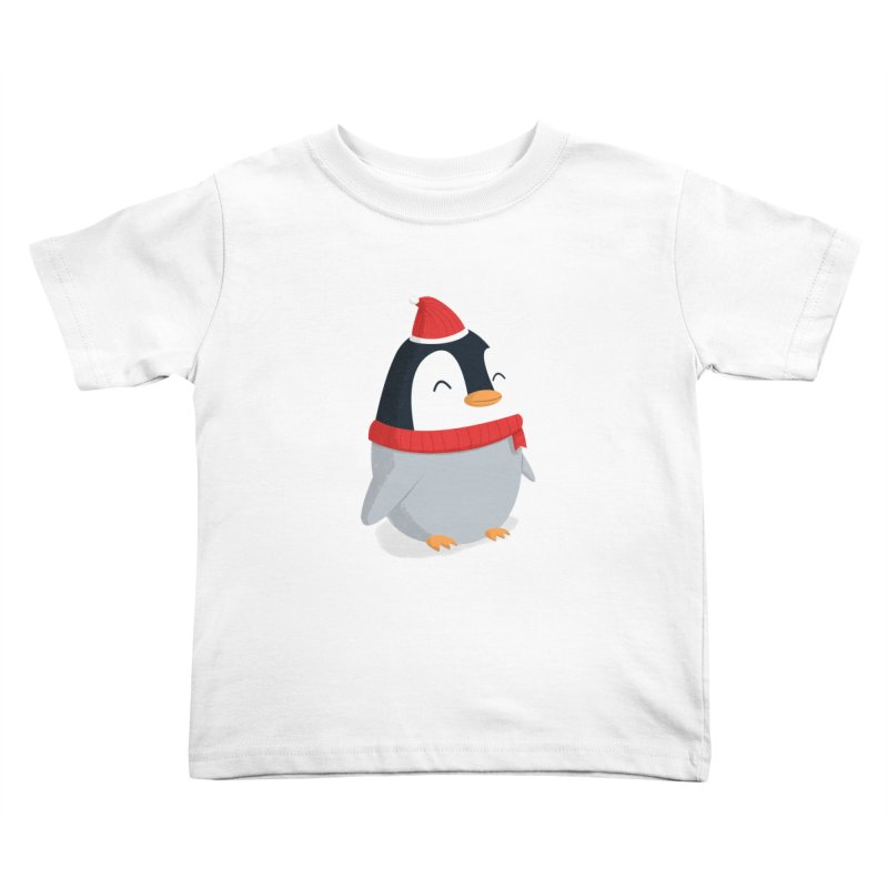 Christmas Penguin Kids Toddler T-Shirt by cartoonbeing's Artist Shop