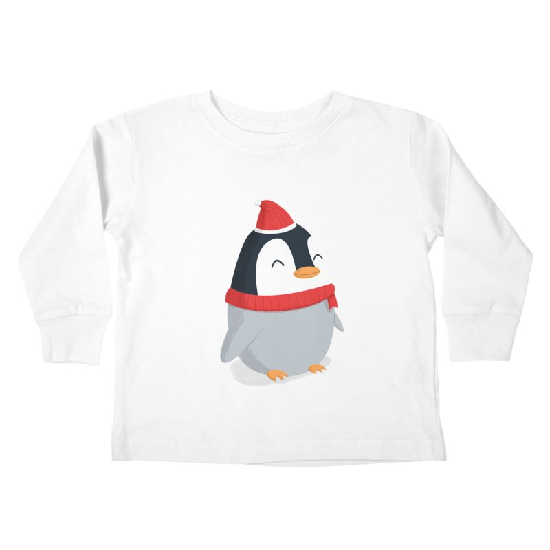 Christmas Penguin Kids Toddler Longsleeve T-Shirt by cartoonbeing's Artist Shop