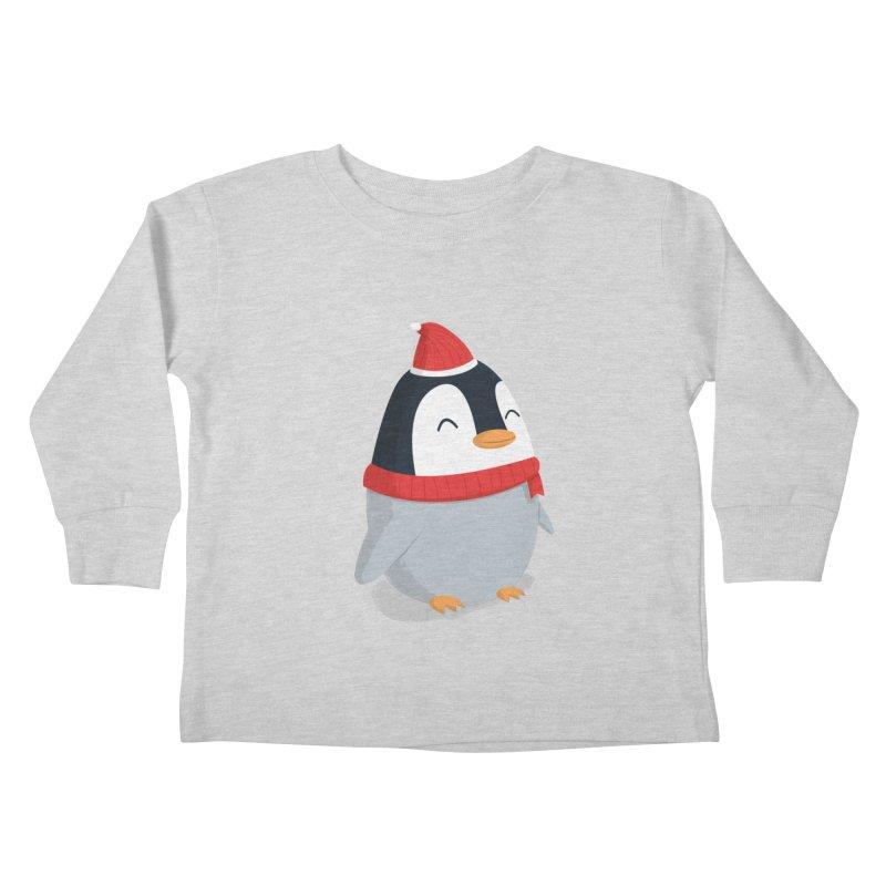 Christmas Penguin Kids Toddler Longsleeve T-Shirt by cartoonbeing's Artist Shop